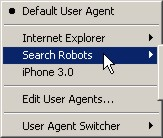 user agent switcher menu image